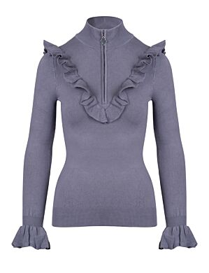 Reinders | Romelia Ruffle Top Metal Grey