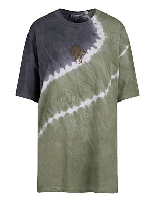 Reinders | T-shirt Tie Dye Short Sleeve Dark Olive