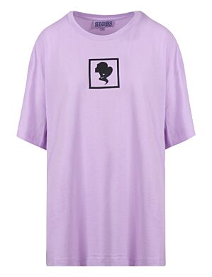 Reinders | T-shirt Headlogo Square Orchid Bloom