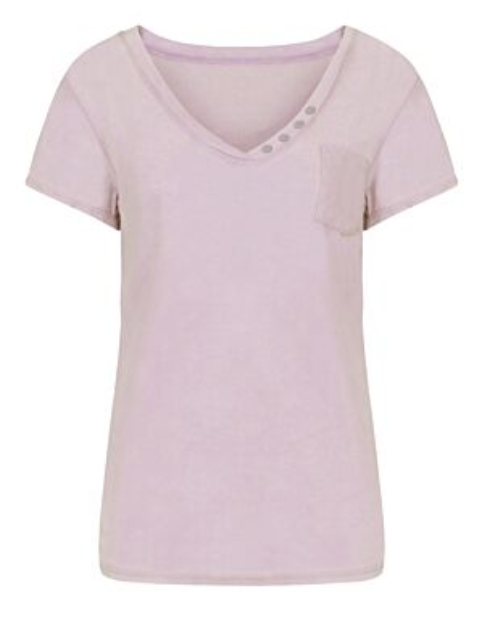 T-shirt Button Roze