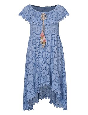 Long Dress Lace Blauw