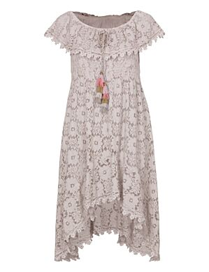 Long Dress Lace Beige