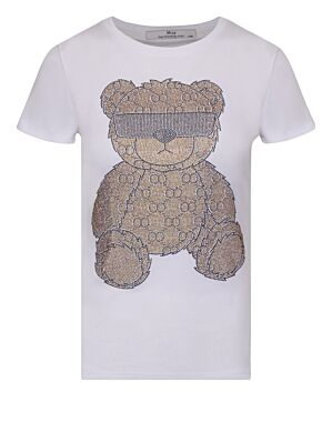 T-shirt Cool Teddy Wit/ Goud