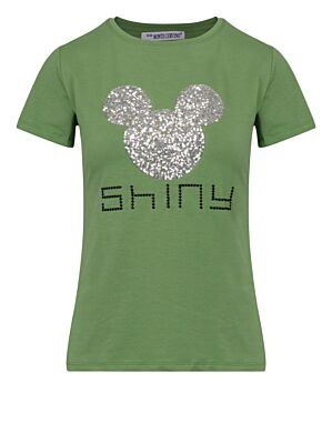 T-shirt Shiny Mickey Groen