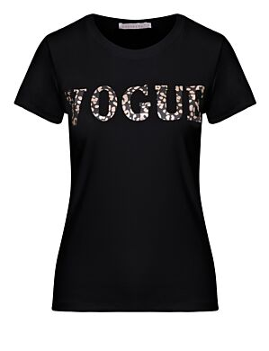 T-shirt Vogue Panter Zwart