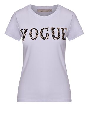 T-shirt Vogue Panter Wit