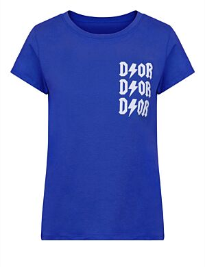 T-shirt D!or Blauw