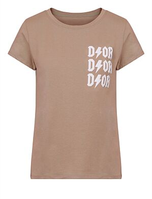 T-shirt D!or Beige