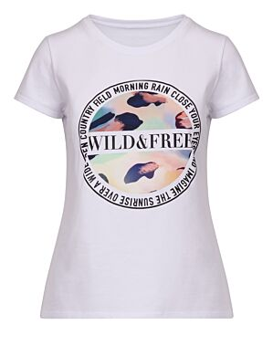 T-shirt Wild & Free Geel