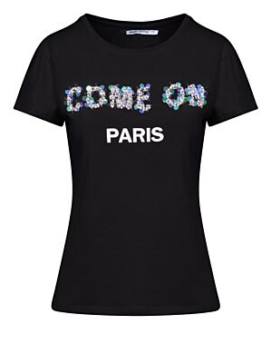 T-shirt Come On Paris Zwart