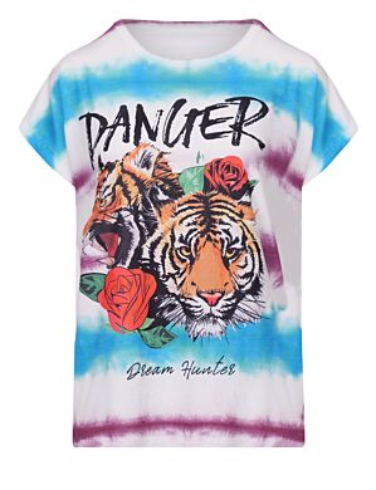 T-shirt Tie Dye Danger Paars