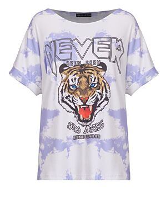 T-shirt Tie Dye Never Paars
