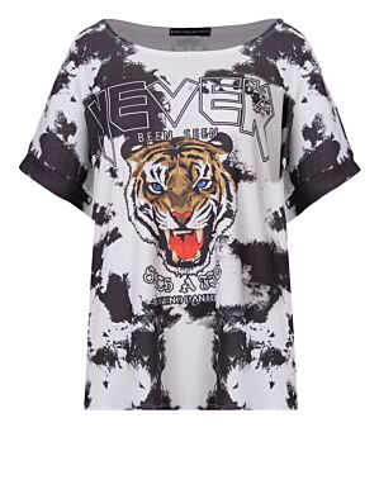T-shirt Tie Dye Never Zwart