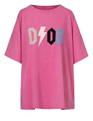 Oversized Tee D!or Fuchsia