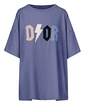 Oversized Tee D!or Blauw