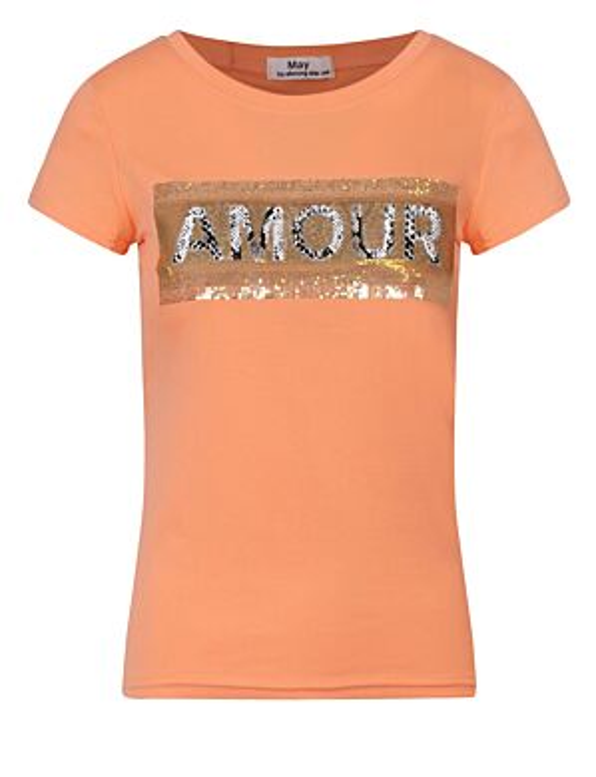 T-shirt Snake Amour Koraal