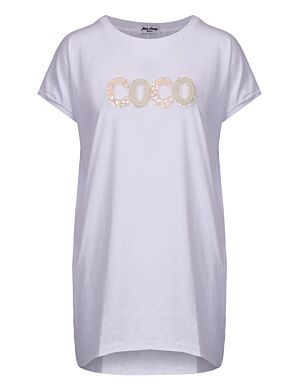 Long T-shirt Coco Flower Wit
