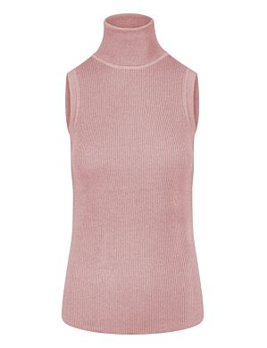 Mouwloze Glitter Col Roze
