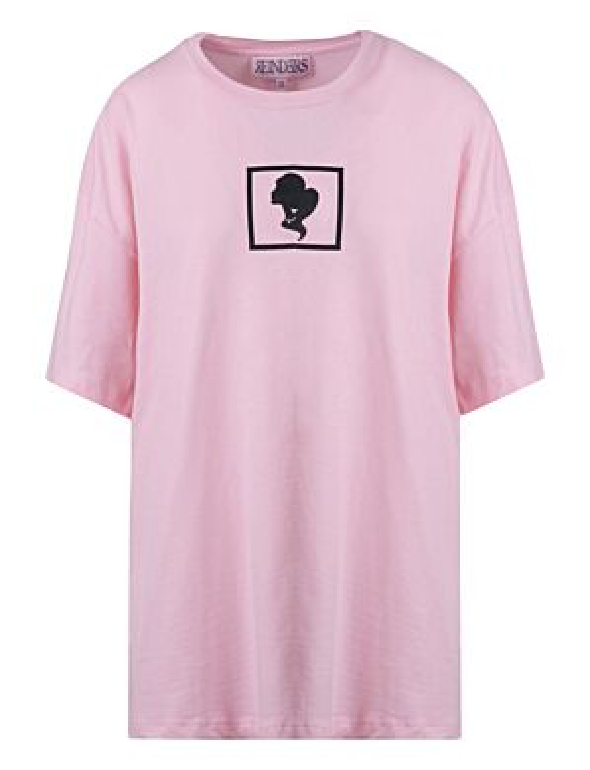 Reinders | T-shirt Headlogo Square Baby Pink