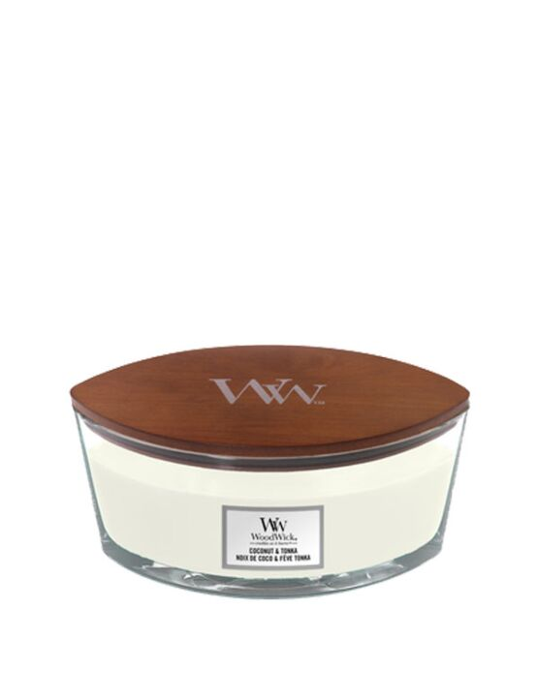 WoodWick | Coconut & Tonka Ellipse Candle