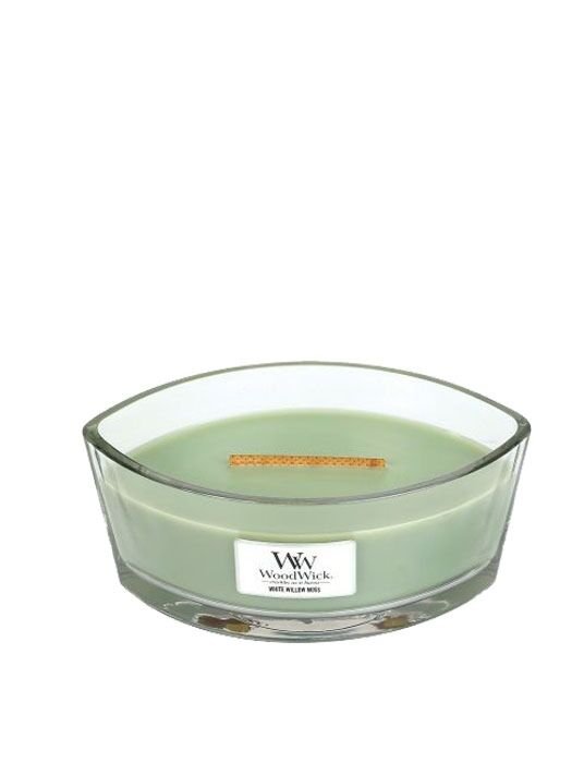 WoodWick - White Willow Moss Ellipse Candle. Bestel nu! | Twinkels.nl