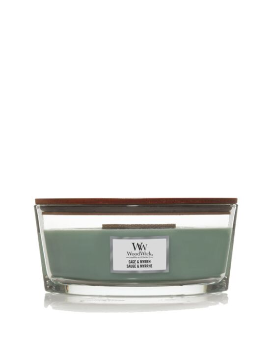 WoodWick | Sage & Myrrh Ellipse Candle