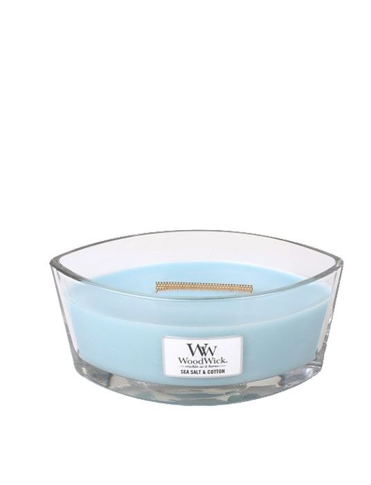 WoodWick - Sea Salt & Cotton Ellipse Candle