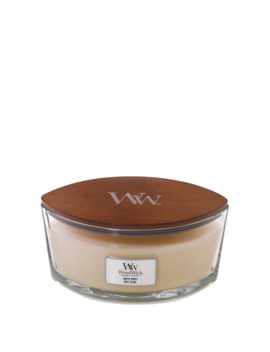 WoodWick | White Honey Ellipse Candle