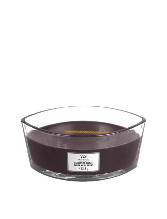 WoodWick - Black Plum Cognac Ellipse