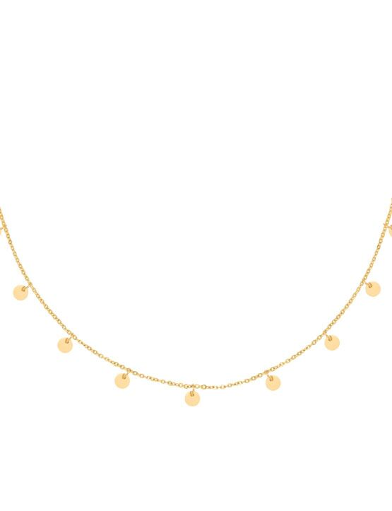 Ketting Floating Coins Goud