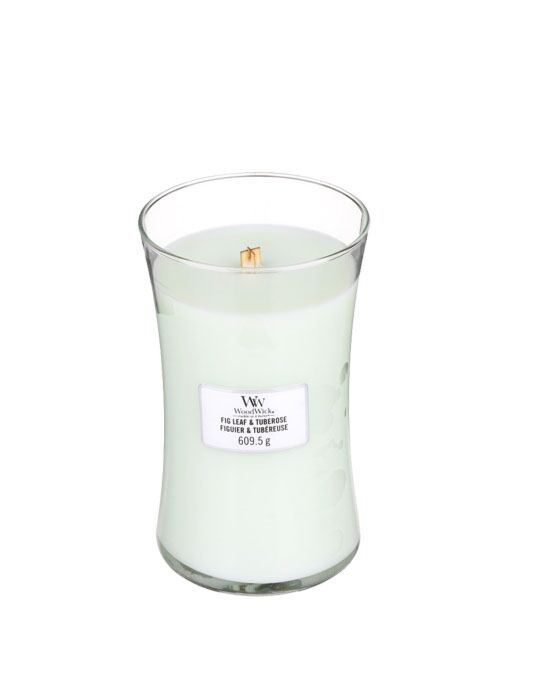 WoodWick - Fig Leaf & Tuberose Large Candle