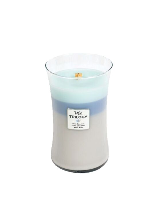 WoodWick - Trilogy Woven Comforts Large Candle. Bestel nu! | Twinkels.nl