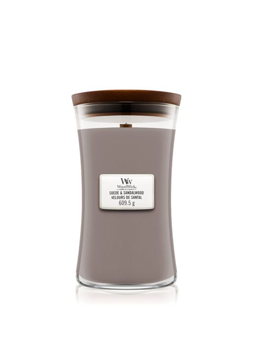 WoodWick - Suede Sandalwood Large Candle