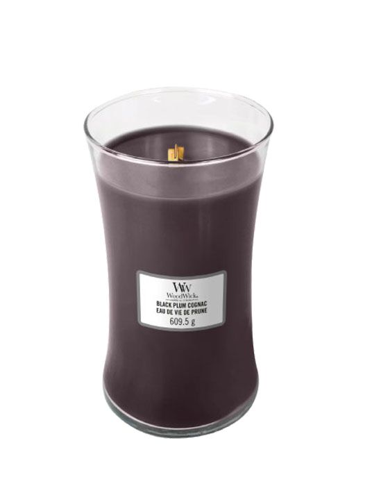WoodWick - Black Plum Cognac Large Candle