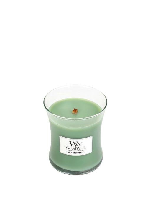 WoodWick - White Willow Moss Medium Candle. Bestel nu! | Twinkels.nl