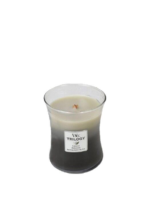 WoodWick - Trilogy Warm Woods Medium Candle. Bestel nu! | Twinkels.nl
