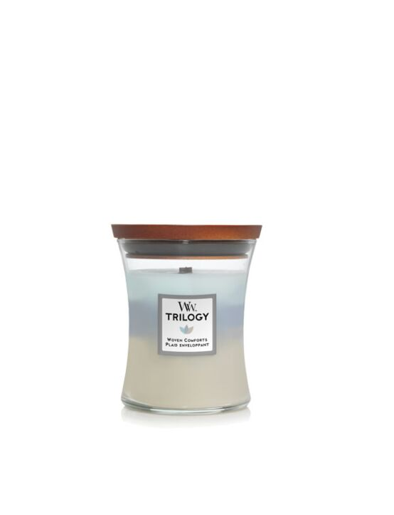WoodWick | Woven Comforts Trilogy Medium Candle