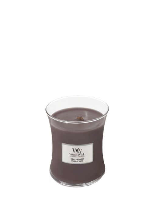 WoodWick - Suede & Sandalwood Medium Candle