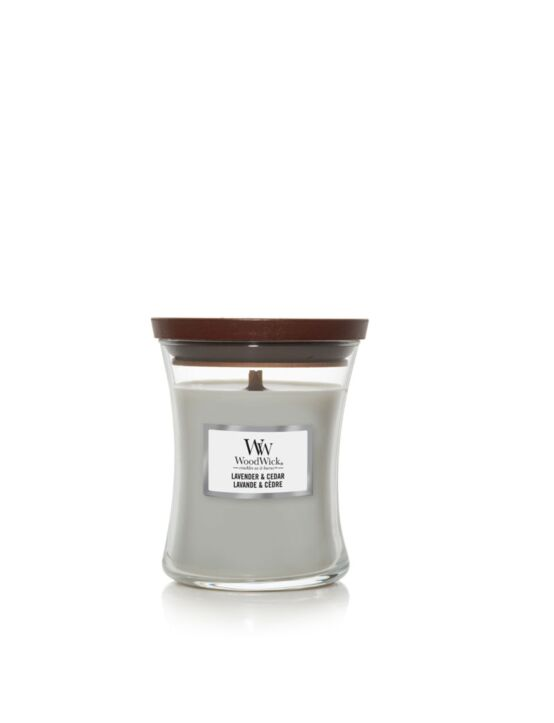 WoodWick | Lavender & Cedar Medium Candle