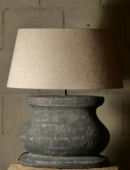 Lampshade Oval Linen 45X35X22