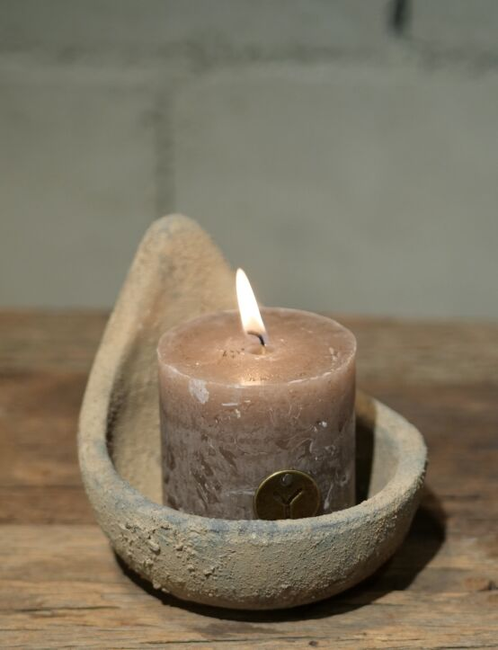 Rustic Candle Brown D7.H7