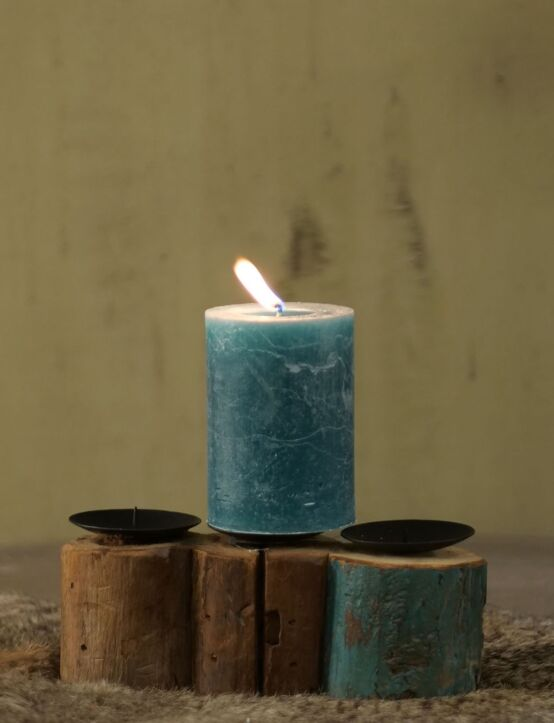 Wood Candle Holder 3-S