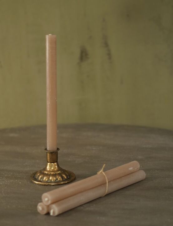 Dinner Candle Taupe D3.H28