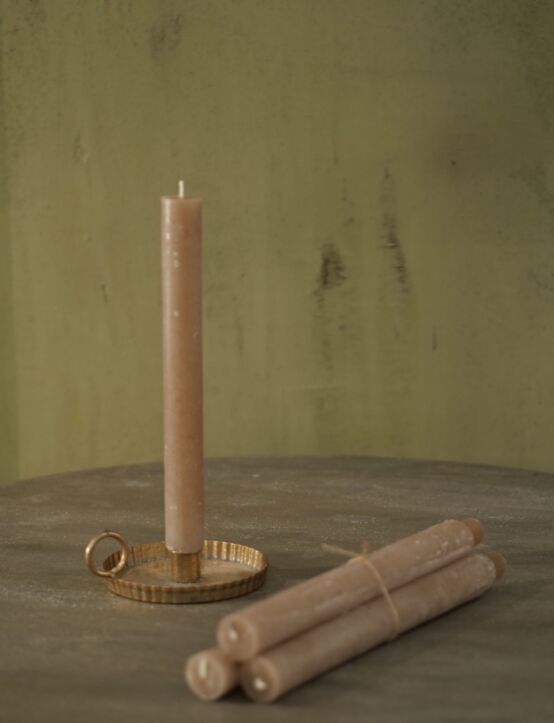 Dinner Candle Grande Taupe D3.H28