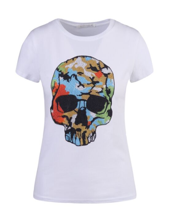 T-shirt Colorful Skull Wit