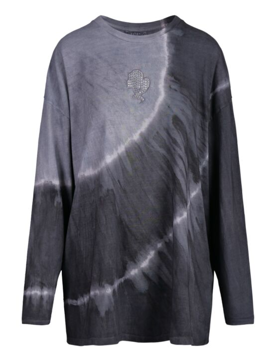 Reinders | T-shirt Tie Dye Long Sleeve Metal Grey