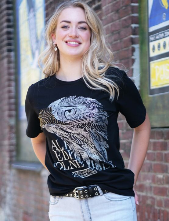 T-shirt Shiney Eagle Zwart