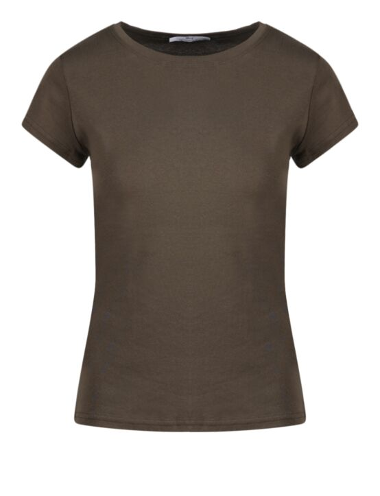 Basic T-shirt May Donkergroen