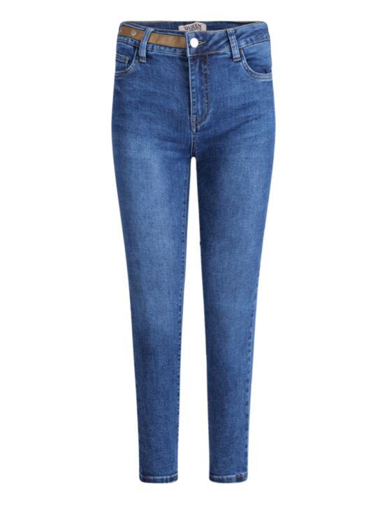 Queen Hearts | Skinny Jeans, Leather Detail