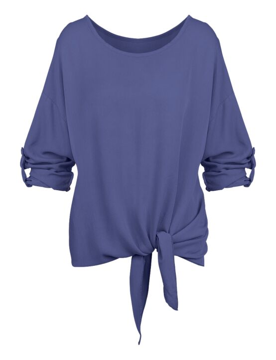 Top Evelyn Donkerblauw